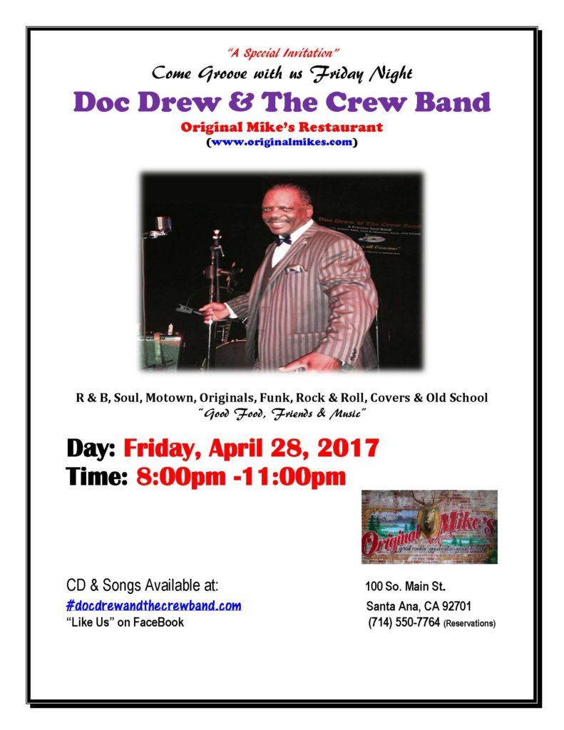 Doc Drew & the Crew at Original Mikes: 4-28-17